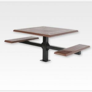 "Wheelchair Cantilever Picnic Table with 4"" Square Tubing"