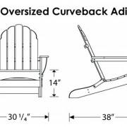 POLYWOOD® Classic Oversized Curveback Adirondack