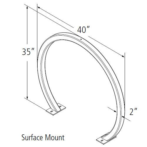 Arc Bike Rack Diagram