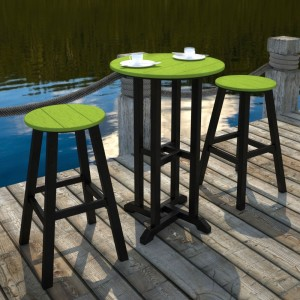 POLYWOOD® Contempo Bar Height Bar Stool
