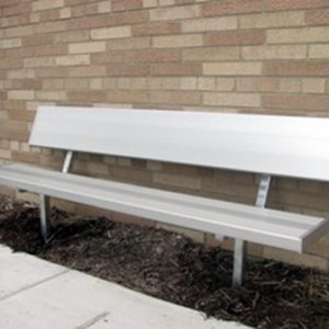 Camelback Series In Ground Aluminum Bench