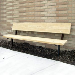 Camelback Series In Ground Wood Bench