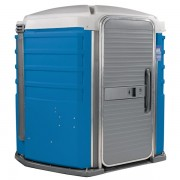 care iii portable toilet blue