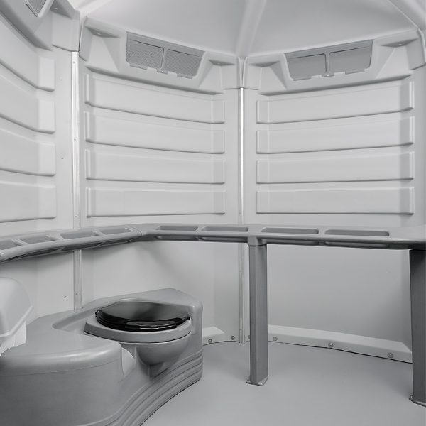 care iii portable toilet interior
