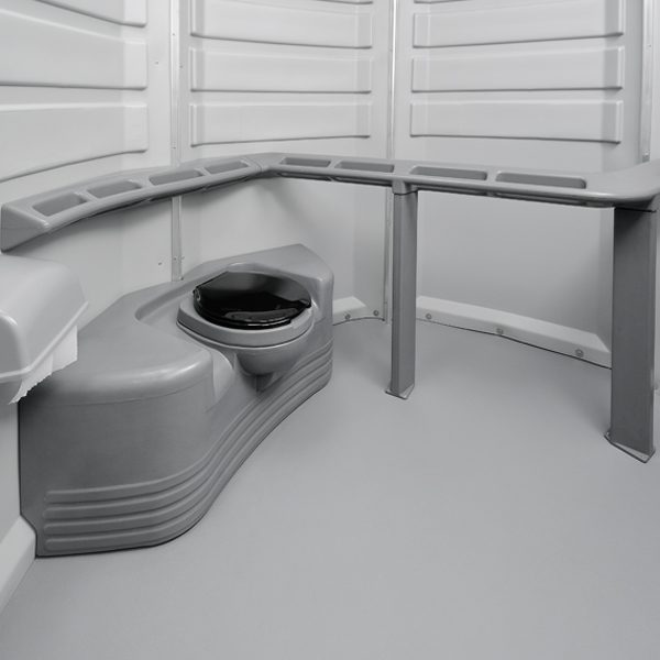 care iii portable toilet interior wide