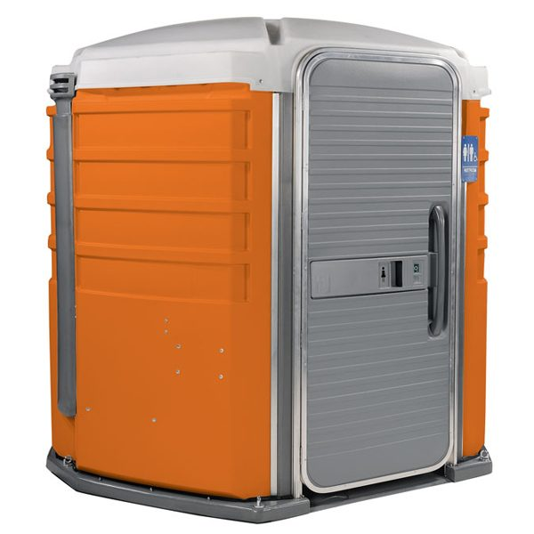 care iii portable toilet orange