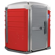 care iii portable toilet red