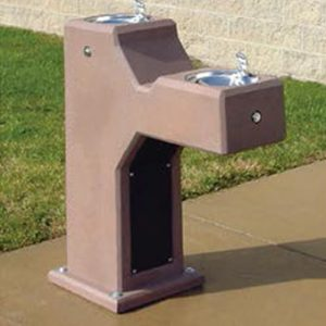 Dual Height ADA Concrete Fountain