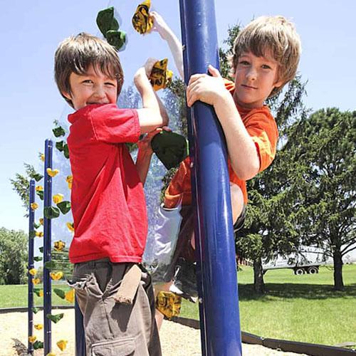 Clear Playground Climb Wall System Kit