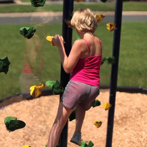 Clear Playground Climb Wall System