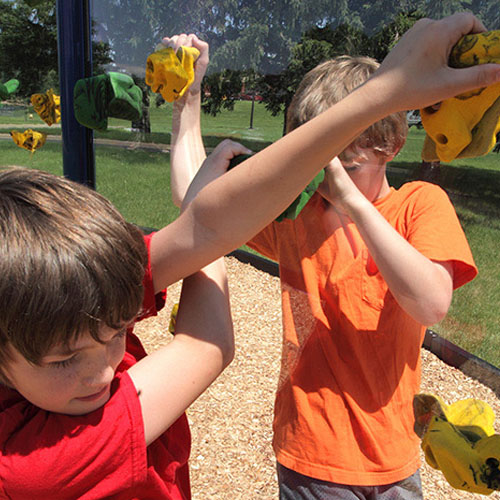 Clear Playground Climb Walls