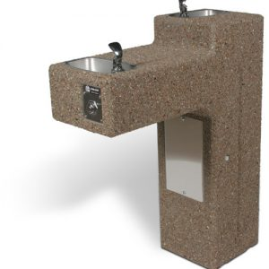 DF-Dual - ADA Accessible Bi-Level Concrete Drinking Fountain