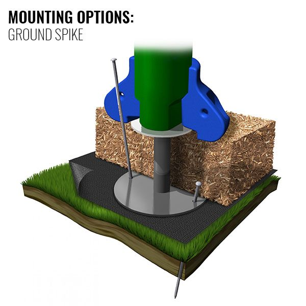 Discovery Center Ground Spike Mounting Option