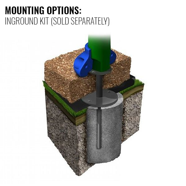 Discovery Center In-ground Mounting Option