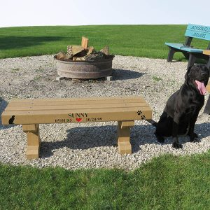 Dura Bench - Dog Park Bench With Customized Graphics