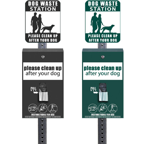 dog waste station signs
