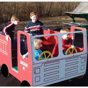 Fire Truck Multi Spring Rider