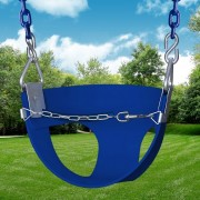 half bucket swing blue