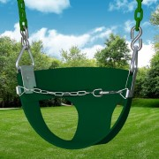half bucket swing green