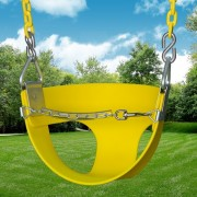 half bucket swing yellow
