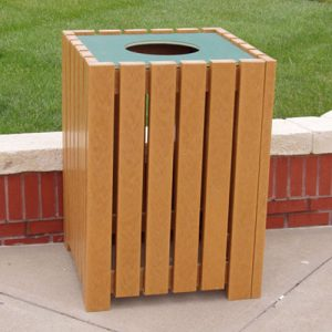 Heavy Duty Square Trash Receptacle