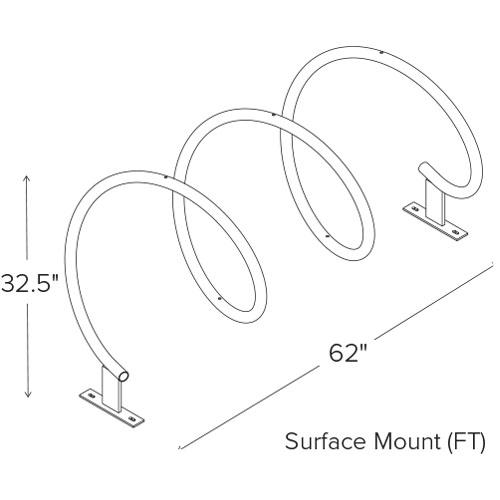 Helix Bike Rack Diagram