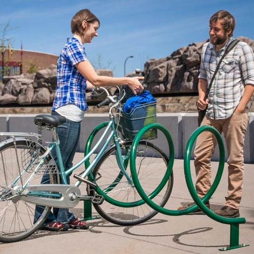 Helix Bike Rack surface mount