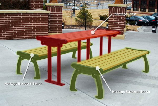 Heritage Table & Backless Benches