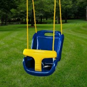 High Back Infant Swing blue
