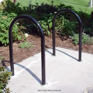 hoop bike rack