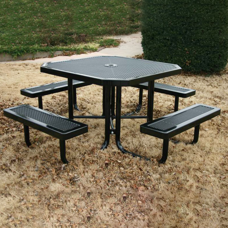 Innovated Style Square Picnic Table - Square picnic table with benches