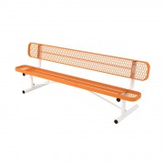 8′ Portable L Series Bench with Back