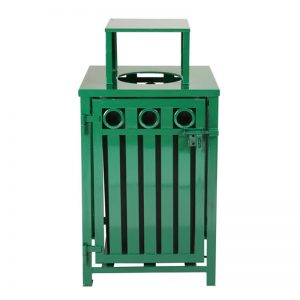 Oakley Decorative Square Trash Receptacle