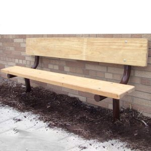 Monster Series In Ground Wood Bench