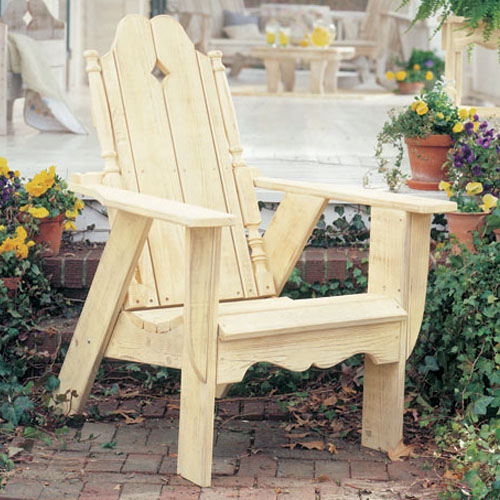 nantucket pine adirondack chair