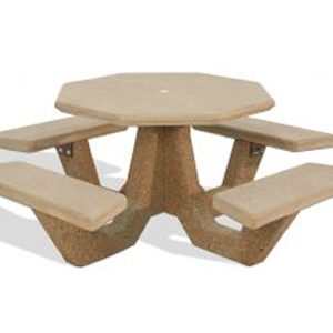 "40"" Octagon Concrete Picnic Table"