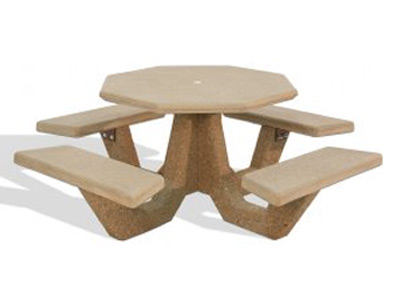 40″ Octagon Concrete Picnic Table