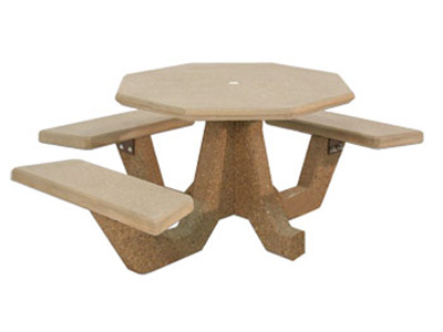 ADA Accessible 40″ Octagon Concrete Picnic Table