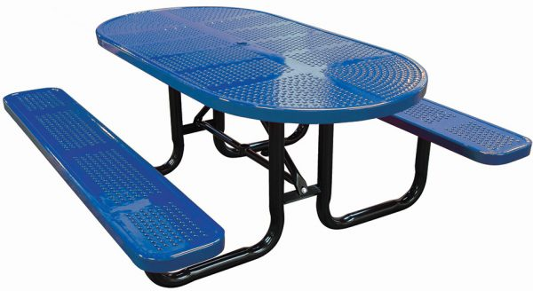 6ft. Oval Perforated Metal Picnic Table