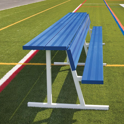 powder coated team benches with shelf