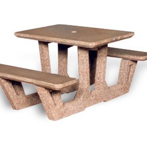 "38"" Rectangular Concrete Picnic Table"