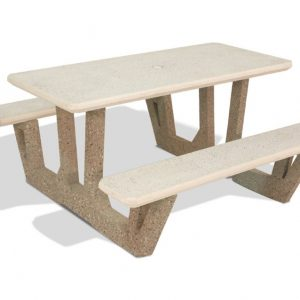 "58"" Rectangular Concrete Picnic Table"
