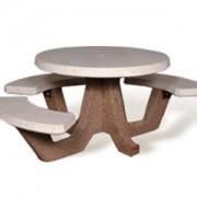 ADA Accessible 42″ Round Concrete Picnic Table