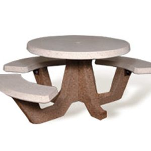 "ADA Accessible 42"" Round Concrete Picnic Table"