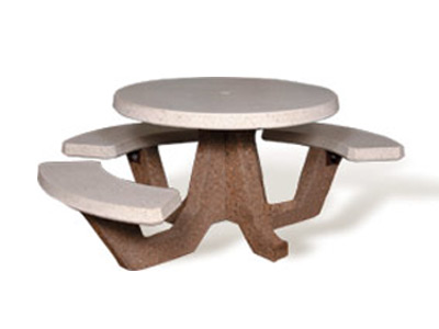 ADA Accessible Round Concrete Picnic Table - Ada picnic table requirements