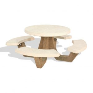 "42"" Round Concrete Picnic Table"
