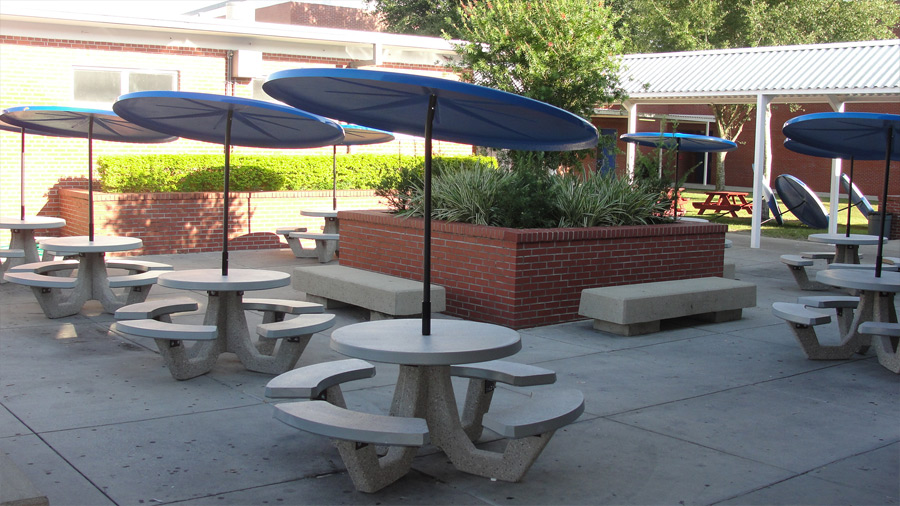 42 Quot Round Concrete Picnic Table Commercial Outdoor