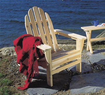 Rustic Cedar Folding Adirondack Chair