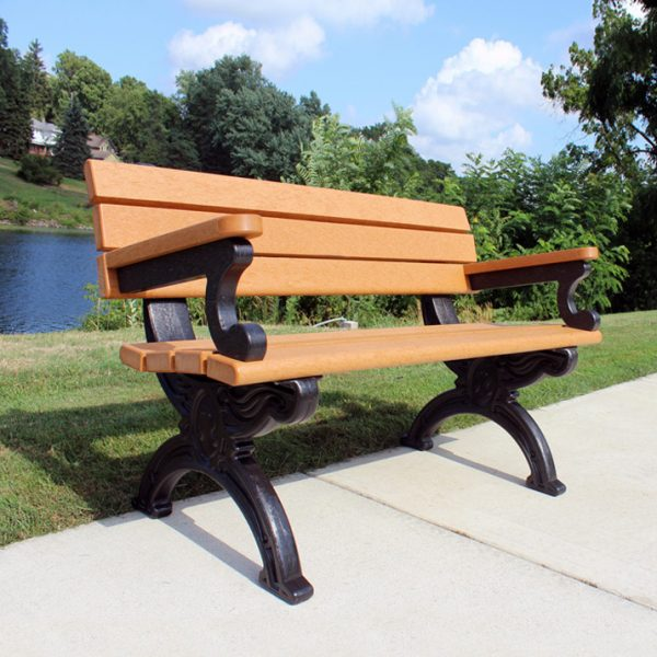 Silhouette Park Bench