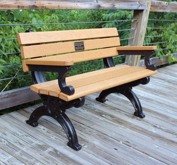 Silhouette Park Bench